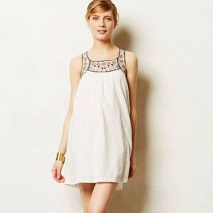 Anthropologie Toda Vista Swing dress embroidered